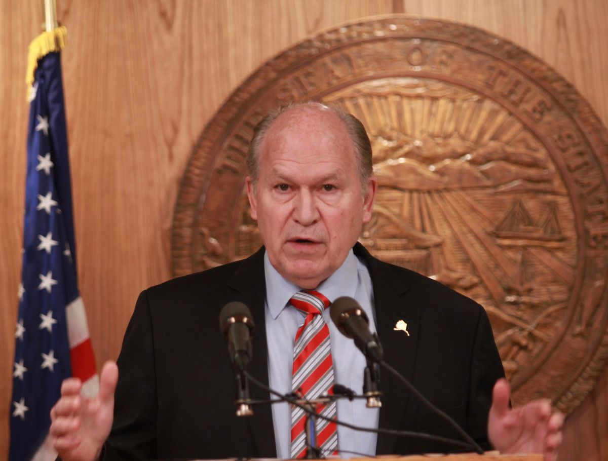 "Alaska Gov. Bill Walker, seen in a file photo, introduced what he called a ""compromise fiscal package"" on Monday. (Nathaniel Herz / Alaska Dispatch News)"