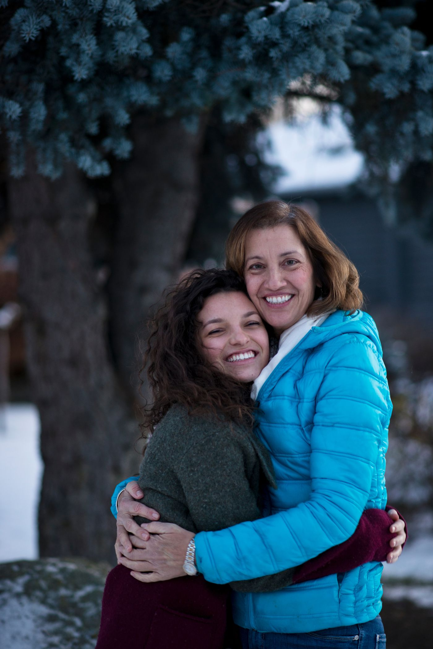 Taylor Haines and her mother Elizabeth Wilson at home on Thursday, November 12, 2015.