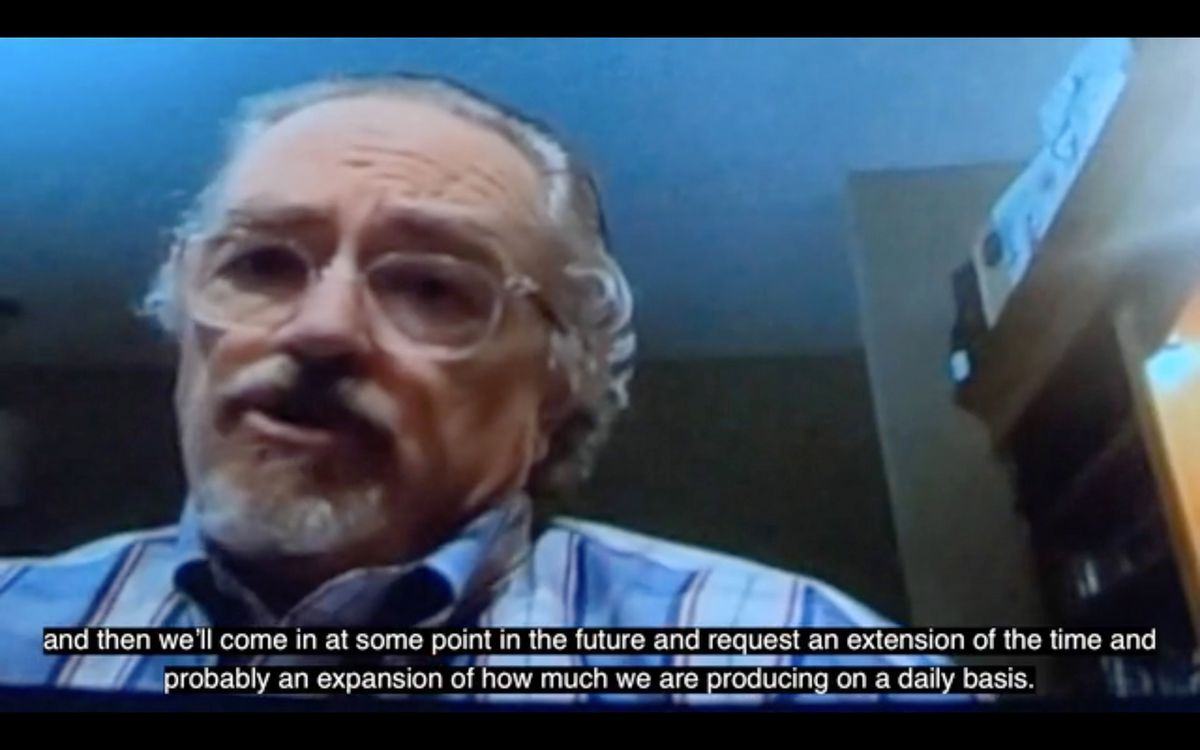 Tom Collier speaks on a video about expanding the Pebble mine in future years. (Screenshot from Environmental Investigation Agency's