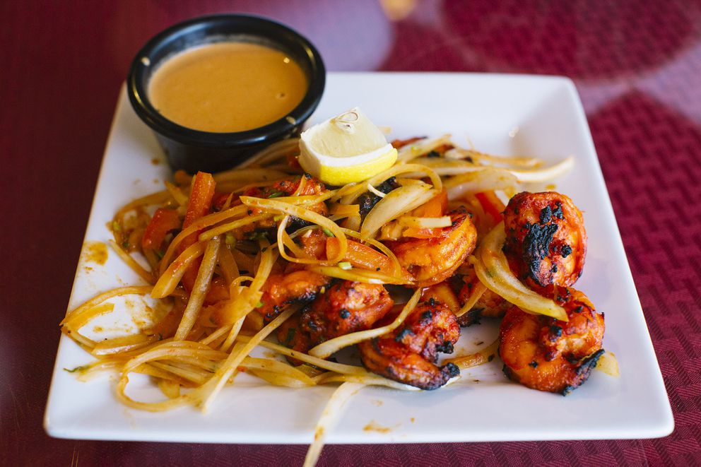 Tandoori shrimp at Namaste Shangri-La in Anchorage. (Photo by Kerry Tasker)