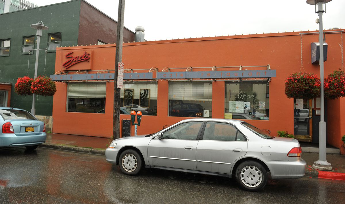 Sacks Cafe sits on G Street in downtown Anchorage on Friday. (Bob Hallinen / Alaska Dispatch News)