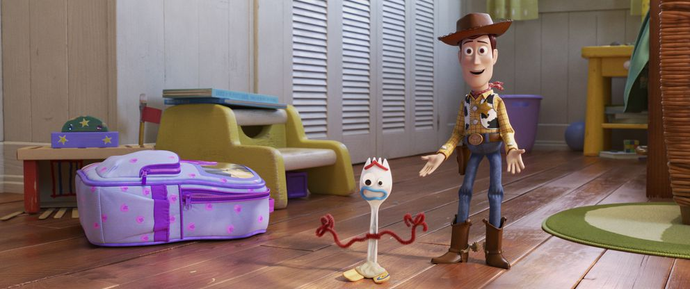 This undated image provided by Disney/Pixar shows a scene from the movie 'Toy Story 4. ' (Disney/Pixar via AP)