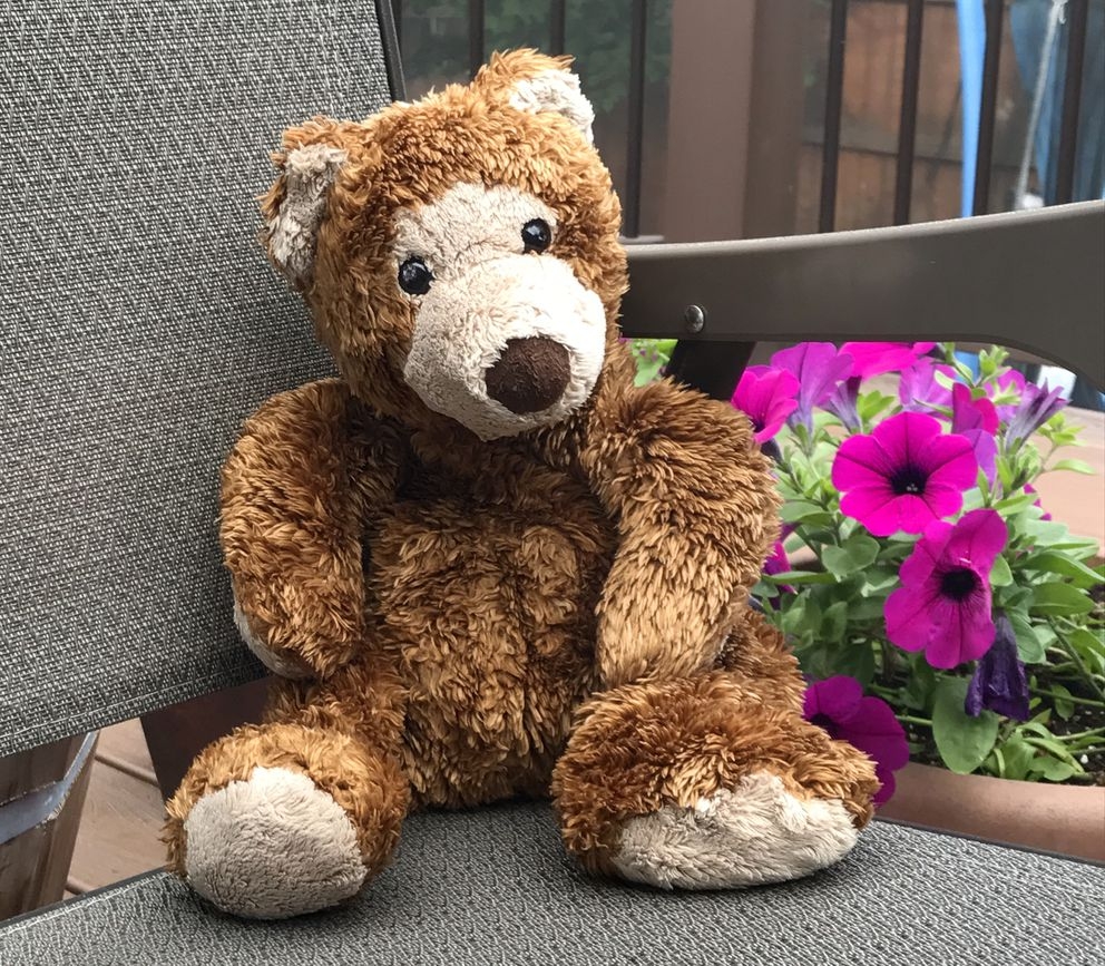 Jack Cooper's teddy bear, Jack Junior, was placed in Jack's casket. (Courtesy Katrina and Rose Garner)