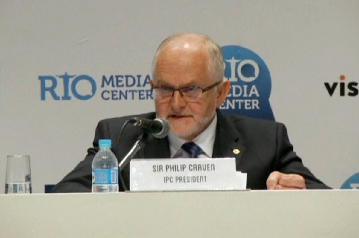 International Paralympic Committee (IPC) President Philip Craven speaks during a news conference in Rio de Janeiro, Brazil August 7, 2016 in this still image taken from video. (REUTERS / via Reuters TV)
