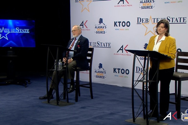 U.S. Rep. Don Young, R-Alaska, and challenger Alyse Galvin debate on Thursday, Oct. 23, 2020.
