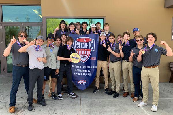 The Team Alaska Tier I 15U boys hockey team is one of eight teams headed to national tournaments next week. Team Alaska won the Pacific District tournament on April 11, 2021, in Scottsdale, Arizona. Photo by Heidi Embley.