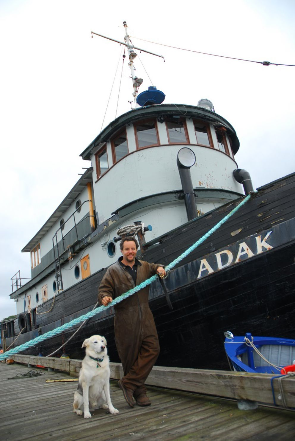 """Brendan Jones is the author of """"The Alaskan Laundry."""" His main character, Tara Marconi, sees an aging, broken-down tugboat from World War II tied off in Port Anna's harbor and decides she must own it. (Courtesy Brendan Jones)"""