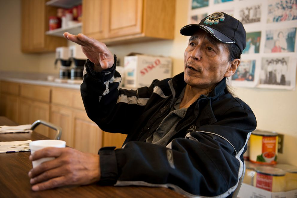 Delbert Pungowiyi, president of the Native Village of Savoonga, said the early retreat of sea ice from the island places walrus hunting challenges on the village. (Marc Lester / ADN)