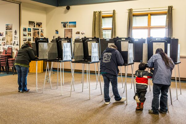 OPINION: When one Alaskan voter is disenfranchised, we are all disenfranchised, and Alaska's democracy suffers for it. Pictured: Voters cast their ballots in Barrow during the August 2012 election. File photo.