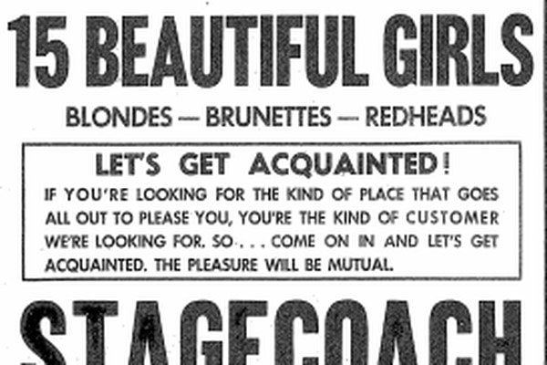 An ad that appeared in the Anchorage Daily Times, April 27, 1957