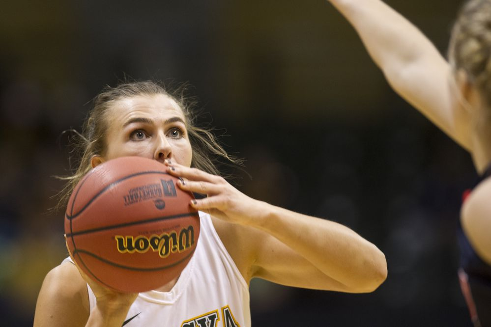 UAA's Hannah Wandersee takes a jumper. UAA women's basketball faced Simon Fraser in the second round of the NCAA Division II West Regional Championships on March 11, 2017. (Marc Lester / Alaska Dispatch News)