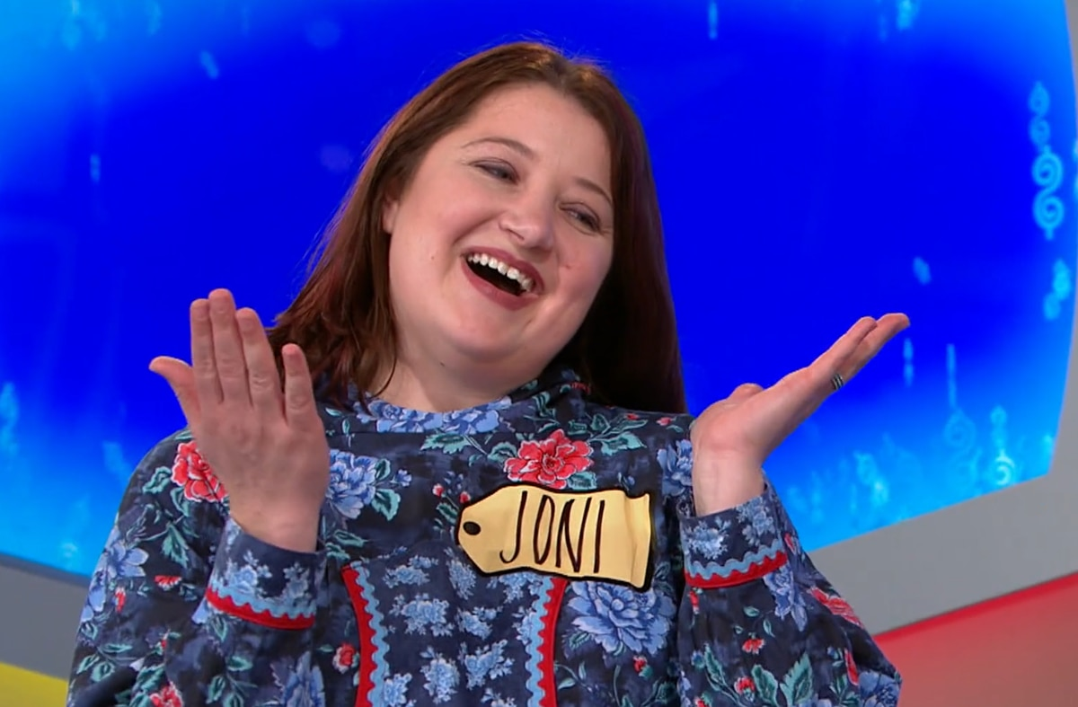 "Bethel resident Joni Beckham competes on the CBS game show ""The Price is Right"" in an episode that aired Jan. 29, 2018. (Screengrab from CBS video)"