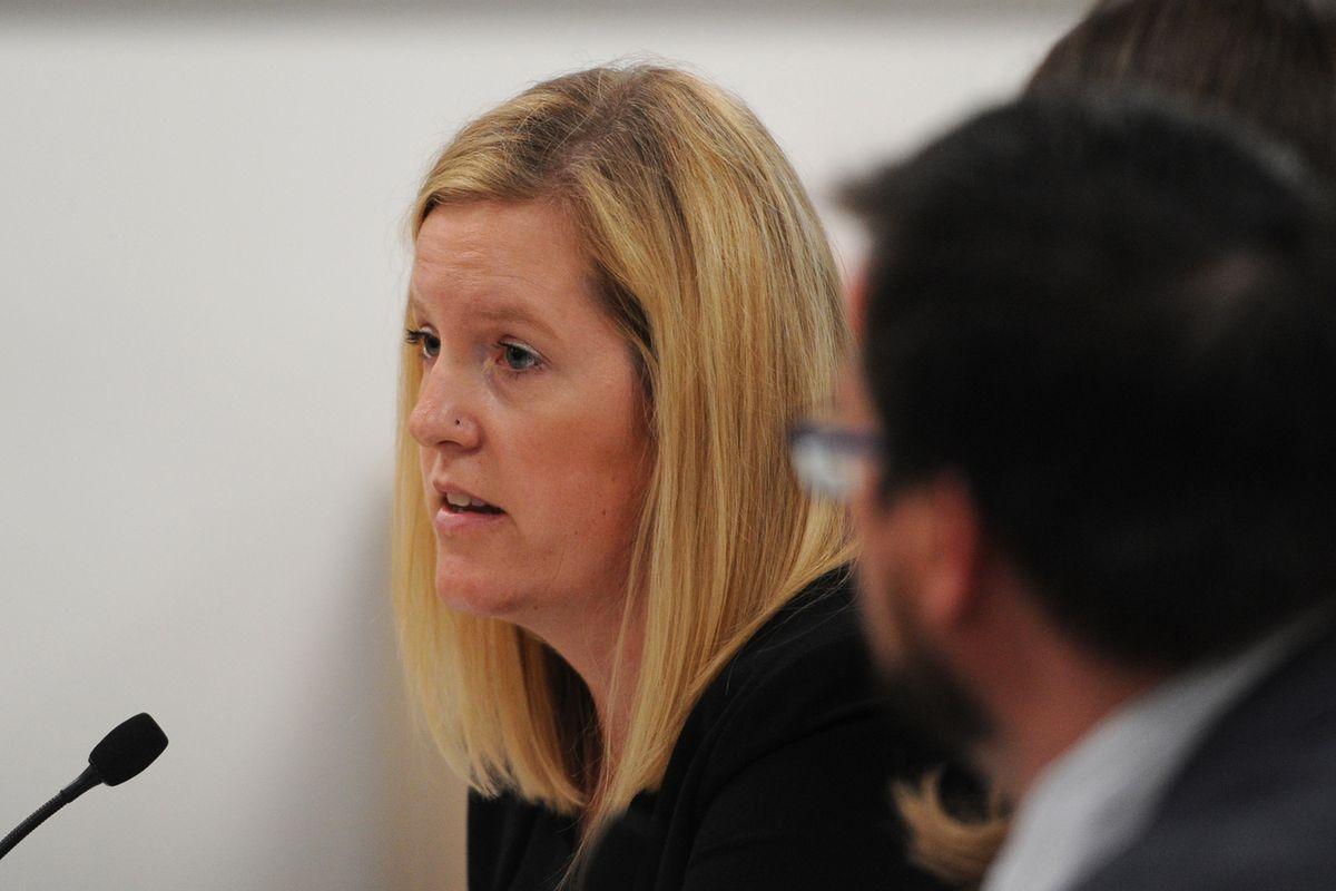 Legislative Legal Director Megan Wallace testifies during an Alaska House Finance meeting in Anchorage on July 15, 2019. (Bill Roth / ADN)