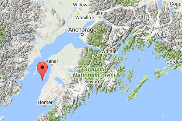 Location of earthquake beneath Cook Inlet on May 6, 2017. (Alaska Earthquake Center)