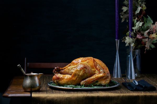 Simple Roast Turkey With Simplest Gravy. MUST CREDIT: Photo by Deb Lindsey for The Washington Post.