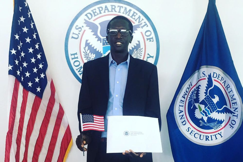 Marko Cheseto after becoming a United State citizens recently. (Photo from Marko Cheseto)