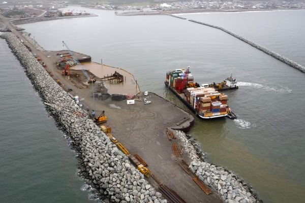 The U.S. Army Corps of Engineers is proposing to extend Nome's causeway and dredge for a deeper dock at the end of it to accommodate bigger ships in wake of more maritime traffic.