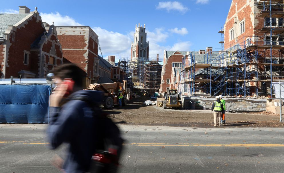 Yale University, in New Haven, Conn., is building two new residential colleges as it prepares to increase the size of its freshman classes, in part to accommodate growing international demand. The number of incoming foreign students at the elite school rose 46 percent from 2004 to 2014. (Photo for The Washington Post by Stan Godlewski)
