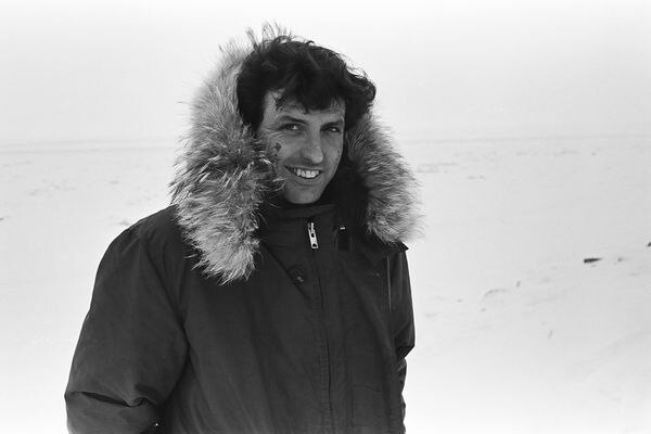 Mike McDermott / Anchorage Daily News 1973 Iditarod race winner Dick Wilmarth of Red Devil in Nome