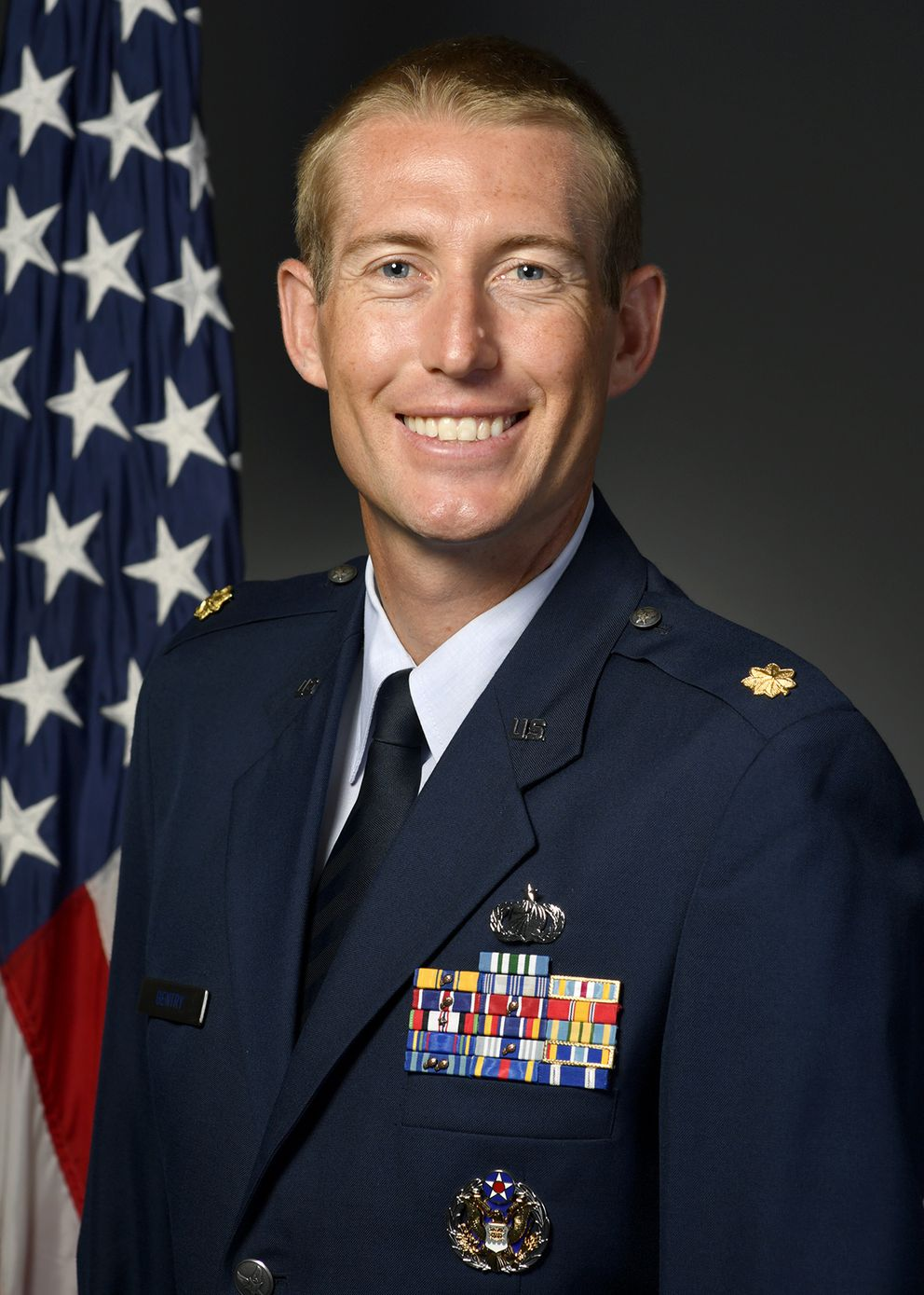 Maj. Michael Gentry, 354th Contracting Squadron commander, was fatally struck by a vehicle Saturday, Aug. 1, 2020, while he was cycling northeast of Fairbanks. (Photo courtesy of Eielson Air Force Base)