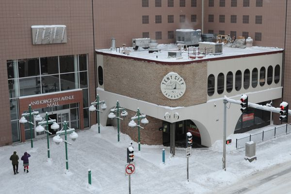 Tent City Taphouse plans to open soon in the Anchorage 5th Avenue Mall. Wednesday, Jan. 22, 2020. (Bill Roth / ADN)