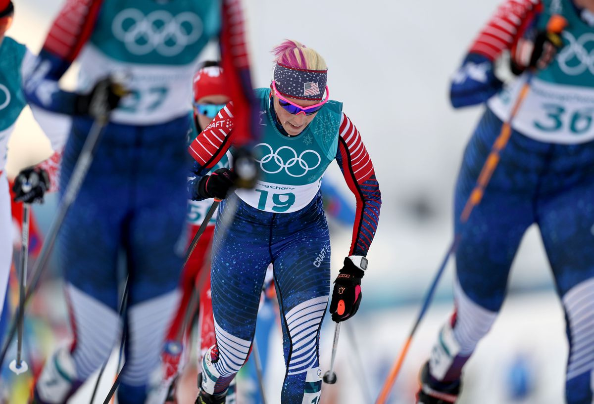 Image result for Olympic Ski Relay for US Women alaska