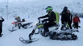Presto! Track kits turn dirt bikes into snowmachines.