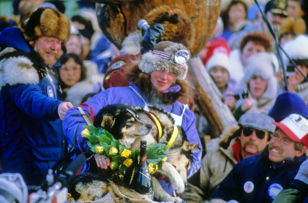 Libby Riddles became the first woman to win the Iditarod Trail Sled Dog Race in 1985. (Greg Anderson / ADN archive)