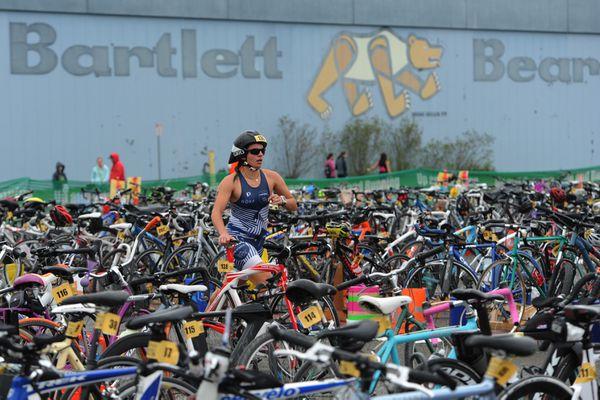 Gold Nugget Triathlon at Bartlett High School on Sunday, May 21, 2017. (Bill Roth / Alaska Dispatch News)