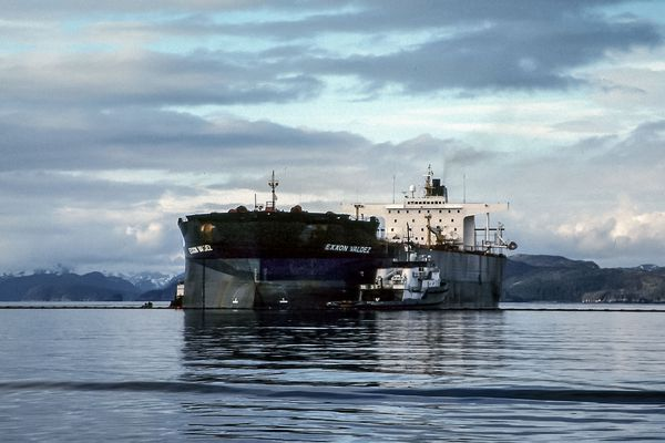 OPINION: The Exxon Valdez spill is 25 years old, but the work of recovery is far from over. Pictured: The Exxon Valdez.