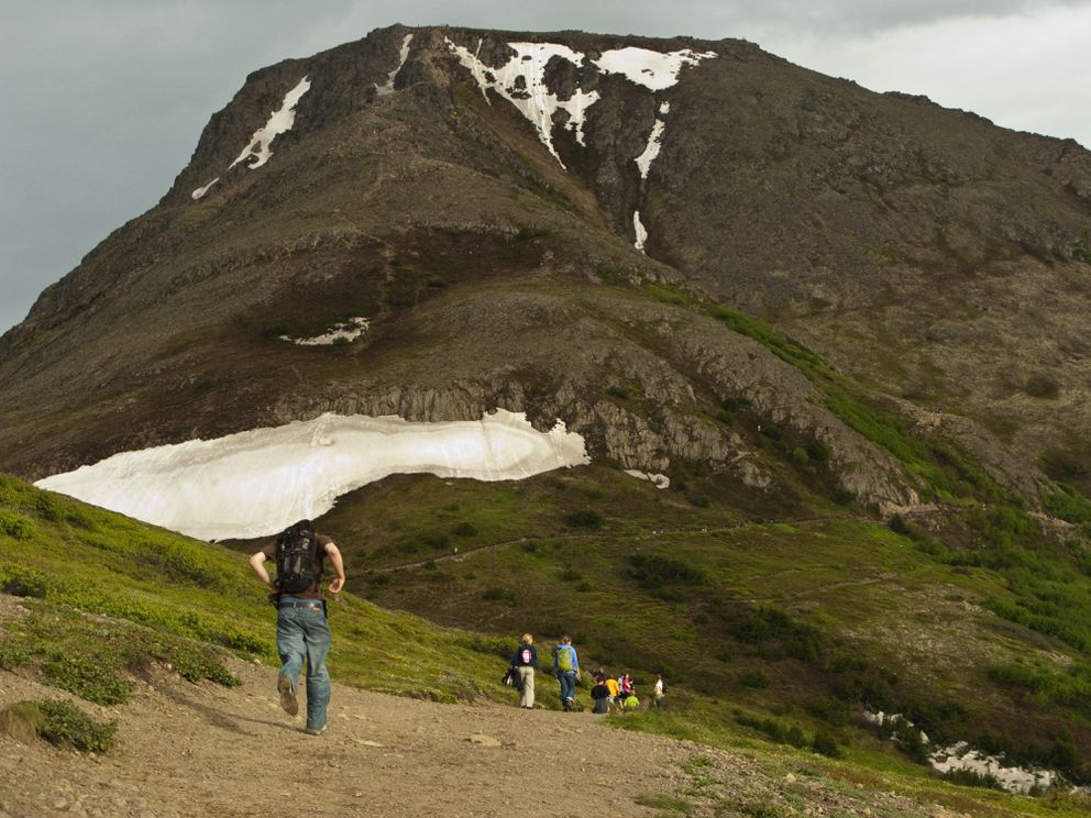 Hiking Flattop Mountain in Chugach State Park is a favorite for residents and visitors alike. (Marc Lester / ADN )