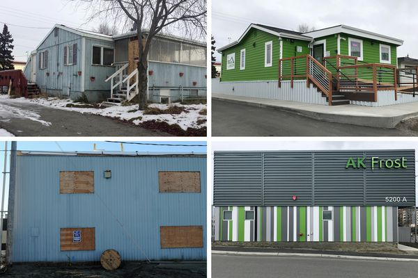 House of Green and AK Frost retail marijuana shops in 2016 and 2018. (Annie Zak / ADN)