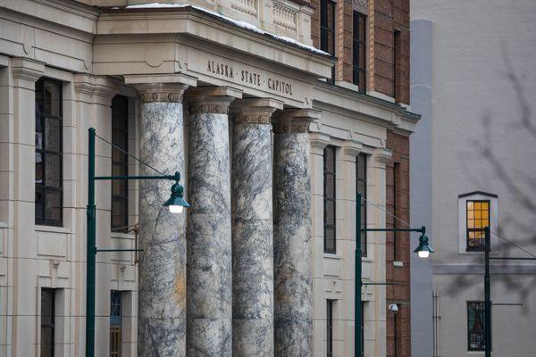 The Alaska State Capitol, photographed on Monday, Jan. 14, 2019. (Loren Holmes / ADN)