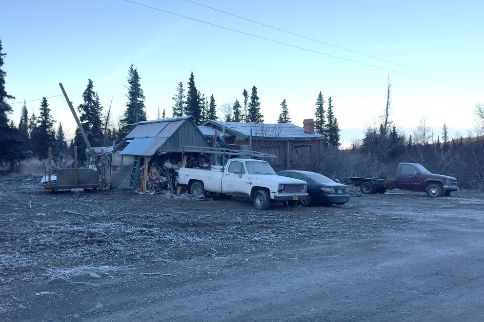 The city spent nearly $84,000 last month cleaning up a Bear Valley property that has been described as the longest-running illegal junkyard in Anchorage. A contractor hauled away 343 tons of junk, or about 684,000 pounds, in addition to two buses and 19 other vehicles. Since 2017, the administration of Mayor Ethan Berkowitz has made cleaning up blighted properties a priority. Photographed Nov 23, 2018. (Devin Kelly / ADN)