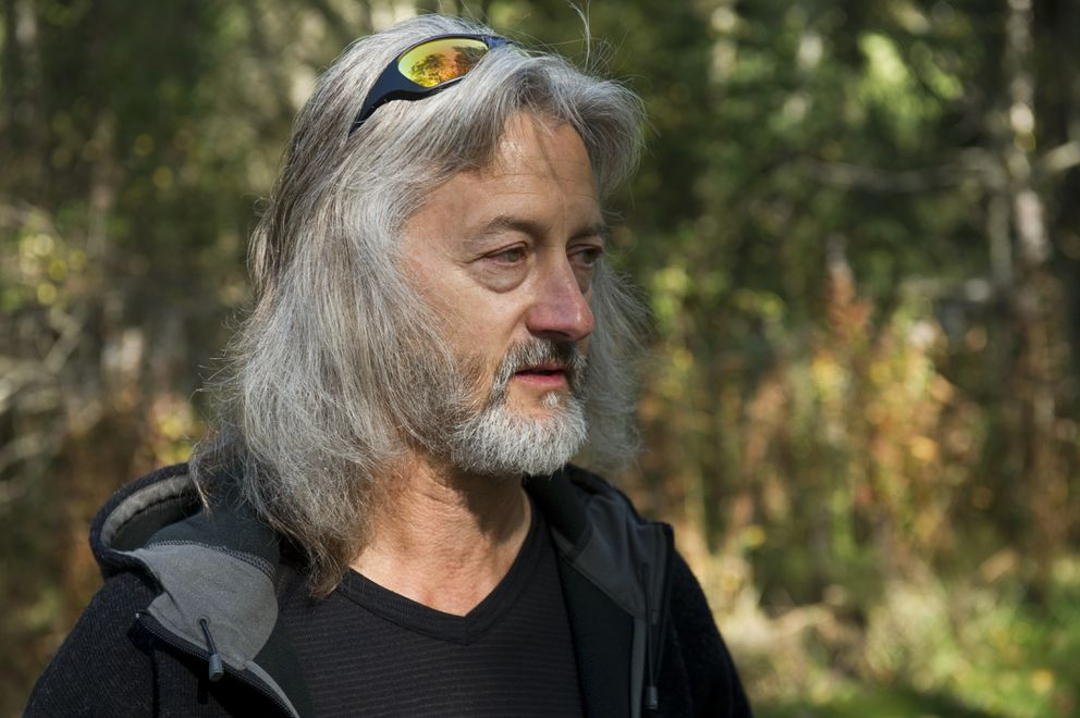Victor Smart, who has lived just south of the Chester Creek Trail near Valley of the Moon Park for 15 years, says he's noticed an increase in homeless camps in the area as well as a recent spike in crime. (Marc Lester / Alaska Dispatch News)