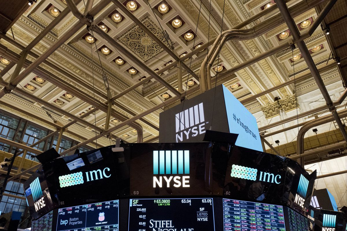 FILE- This Jan. 4, 2018, file photo shows the interior of the New York Stock Exchange. The U.S. stock market opens at 9:30 a.m. EDT on Wednesday, Oct. 10. (AP Photo/Mark Lennihan, File)