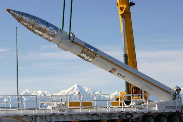 Missile defense interceptor at Fort Greely, Alaska (U.S. Army photo)