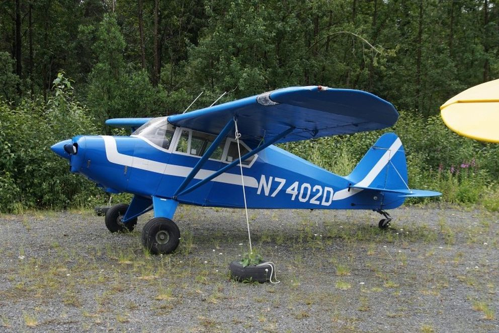 This Piper PA-22, registered to Karl Erickson, was photographed at the Girdwood Airport in 2016. It crashed near the Eagle Glacier Aug. 4, 2019. (Photo by Mike Kemp / Air-Britain Photographic Images Collection)