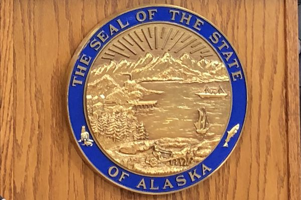 The seal of the State of Alaska. (James Brooks / ADN)