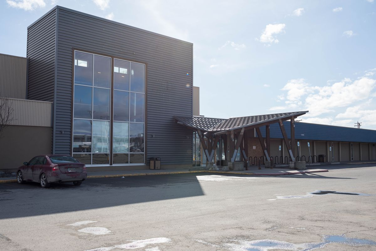 The former REI location in the Northern Lights Center, photographed Friday, April 12, 2019. (Loren Holmes / ADN)