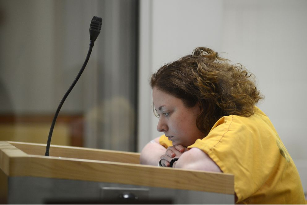 Kelsey Jackson was arraigned Friday, March 15, 2019 on first and second degree murder charges. (Anne Raup / ADN)