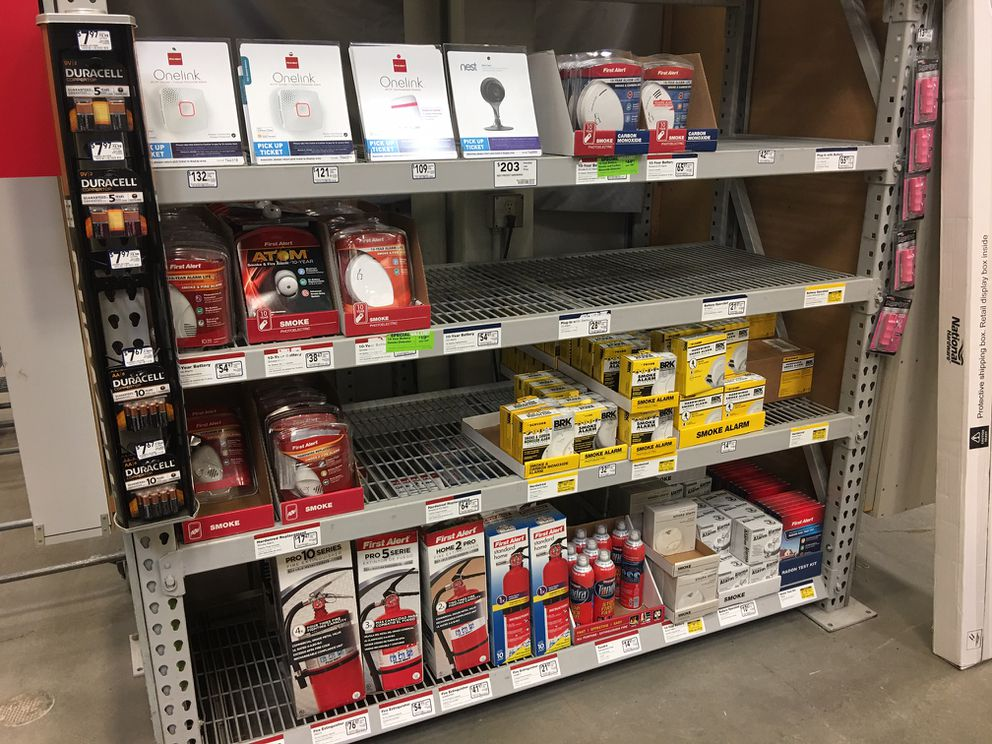 Staff at the Lowe's store on Tudor Road, which was also out of dedicated CO detectors Thursday, said the recent shortage was the first time Lowe's had sold out of them in more than a decade. (Chris Klint / Alaska Dispatch News)