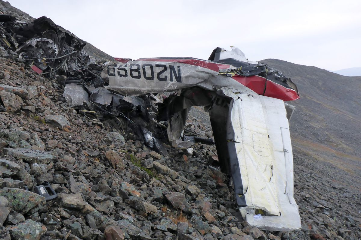 The wreckage of the Ravn Connect flight that crashed near Togiak. (Alaska State Troopers)