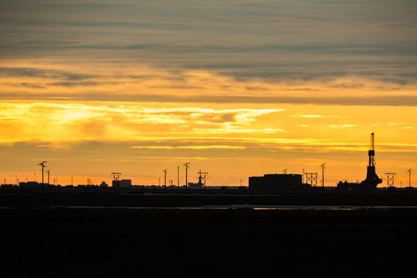 A drill rig at Prudhoe Bay, Alaska on Thursday, May 21, 2015. (Loren Holmes / ADN)