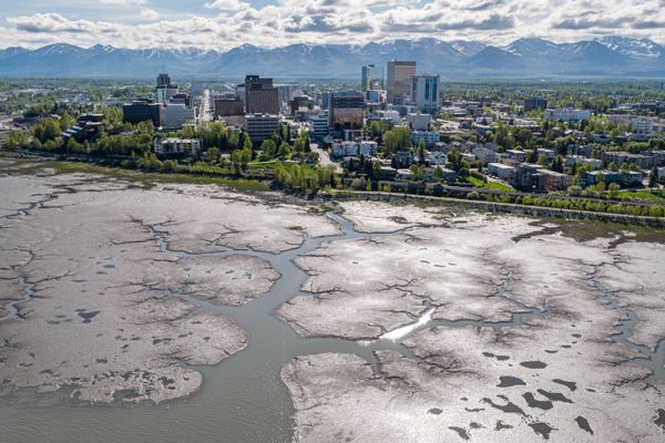 Downtown Anchorage, photographed Wednesday, May 27, 2020. (Loren Holmes / ADN)