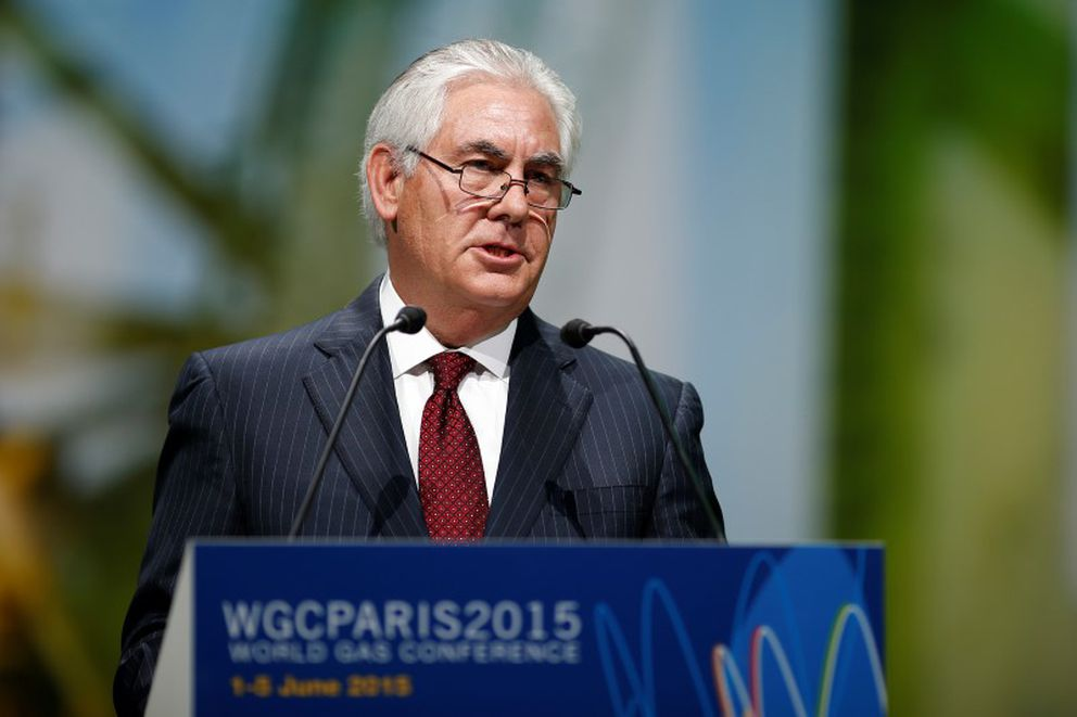 ExxonMobil Chairman and CEO Rex Tillerson speaks during the 26th World Gas Conference in Paris, France, June 2, 2015. (Benoit Tessier / Reuters)