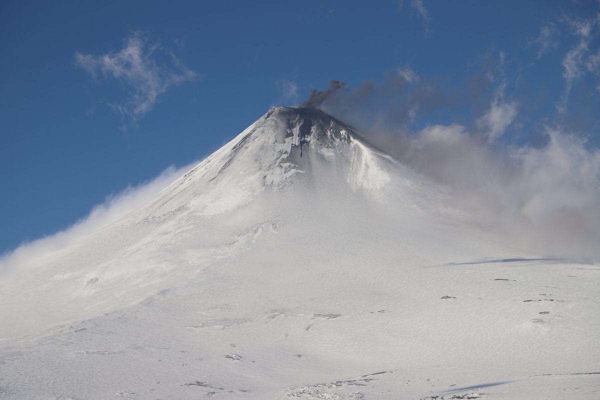 Shishaldin Volcano in late December 2019. (Alaska Volcano Observatory)