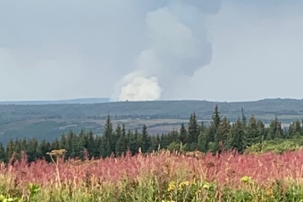 The Caribou Lake Fire, about 25 miles northeast of Homer, on Monday, Aug. 19, 2019. (Alaska Division of Forestry photo)