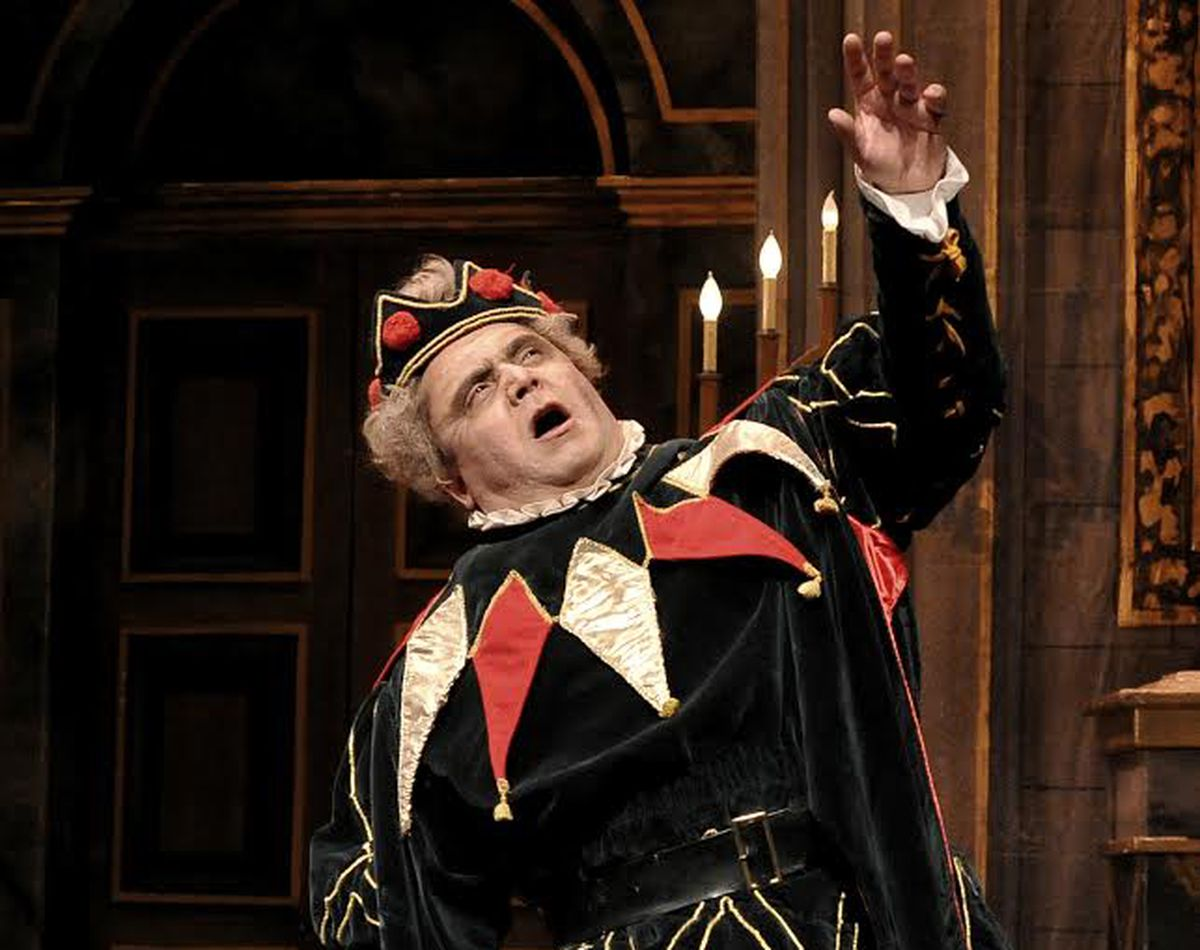 "Guido Le Bron in the title role of ""Rigoletto"" at Tri-Cities Opera, 2014. (Photo by Randy Cummings)"