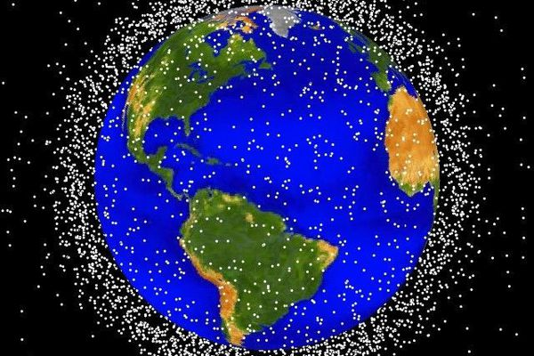 A NASA graphic showing some of the space junk their researchers are tracking. (NASA)